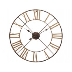 Antique Brass Outdoor Skeleton Wall Clock